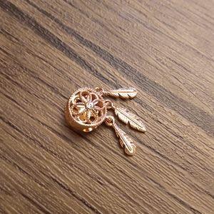 Pandora rose gold dream catcher charm